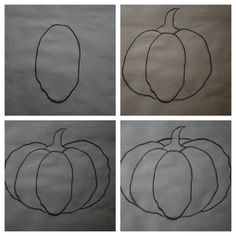 ...........pumpkin pastel drawing tutorial.Pumpkin Chalk Pastel Art Tutorial