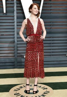 Emma Stone in Altuzarra at the Vanity Fair Oscar party