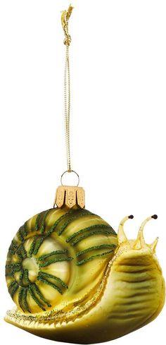 Harrods Glitter Snail Bauble #ad