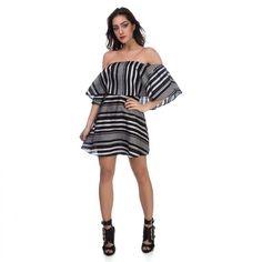 Fiquei apaixonada   Vestido Curto Ombro a Ombro  COMPRE AQUI!  http://imaginariodamulher.com.br/look/?go=2cEVRlw  #comprinhas #modafeminina#modafashion  #tendencia #modaonline #moda #instamoda #lookfashion #blogdemoda #imaginariodamulher