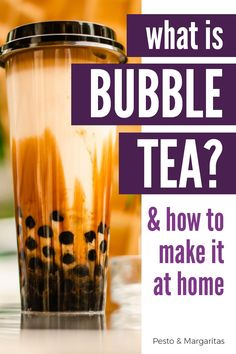 Bubble tea is one of those quiet phenomenon that people who have discovered it rave about. Get into the craze find out what bubble tea is and how you make it at home with this easy bubble tea guide! Tea Cocktails, Fun Drinks, Yummy Drinks, Healthy Drinks, Party Drinks, Tea Party, Beverages, Tea Recipes, Coffee Recipes