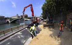 PHOTOS - 5.000 tonnes de sable livrées pour Paris Plages – metronews