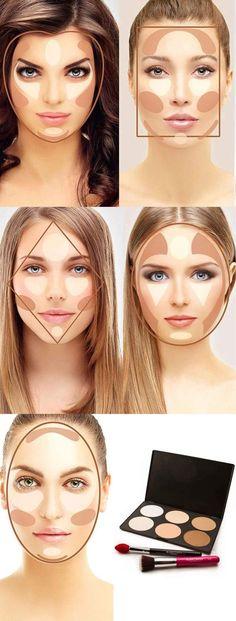 Makeup & Hair Ideas: como-contornear-el-rostro-segun-su-forma