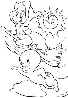Casper And Wendy Coloring Pages