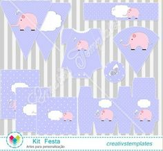 Kit festa Elefante bebê menina mod:841