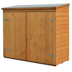 x Wooden Shiplap Garden Shed - Lockable Storage Unit Double Doors for Easy Access Shiplap Cladding Plastic Storage Sheds, Wooden Storage Sheds, Outdoor Storage Sheds, Wooden Sheds, Storage Shed Plans, Outdoor Sheds, Backyard Sheds, Garbage Storage, Tool Storage