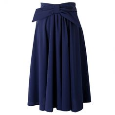 Ladylike Solid Color Chiffon Bowknot Waist Women's Skirts Five Colors on buytrends.com