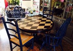 Painted Furniture, redo, chalk paint, kitchen table, harlequin, home furnishings.  Follow me:  https://www.facebook.com/maxandcompany