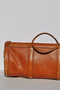 vintage leather duffle