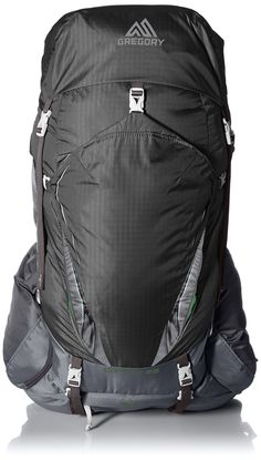 Gregory Mountain Products Contour 50 Backpack, Graphite Gray, Small. Harness features MonoBond Architecture with thermo-bonded, four layer construction. Contoured back panel with breathable spacer mesh and ventilated air channels. Trail Smart Packing System with organization for Camp, Trail and On-the-Go gear. Highly water resistant top pocket with water proof zipper and sealed seems. Integrated, color-matched rain cover.