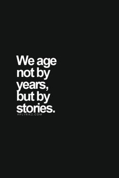 But by stories...
