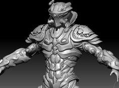 The Ghost Warrior., Namju Kim on ArtStation at https://www.artstation.com/artwork/kZB3z