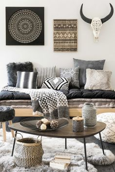 Black and white hygge room | Maisons du Monde