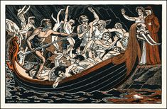 Dante and Virgil Meet Charon on the River Styx by Donn P. Crane