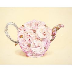 Pink rose teapot. Just pretty!!                              …