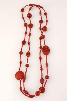 Red Stone Necklace   TreeofLife.com.au