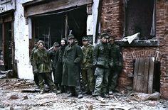 German POWs. Bastogne, Belgium. January '45