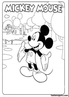 Free Print out pages Mickey Mouse Clubhouse - Printable Coloring Pages For Kids