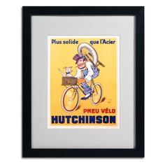 Hutchinson Tires 1937 by Mitch Liebeaux Matted Framed Vintage Advertisement
