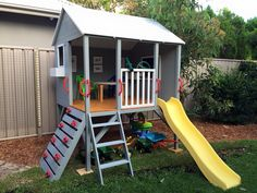 Kids Timber Cubby House - Hide & Seek Kids - Brisbane based - Kids Rule our World! Afterpay Available - Big Range - Family Business Kids Cubby Houses, Kids Cubbies, Play Houses, Kids Outdoor Play, Outdoor Play Areas, Backyard For Kids, Backyard Playhouse, Build A Playhouse, Wooden Playhouse