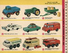 Matchbox Collector's Catalogue, 1968, by Wishbook, via Flickr.  I still have #'s 50, 51, 56 & 57