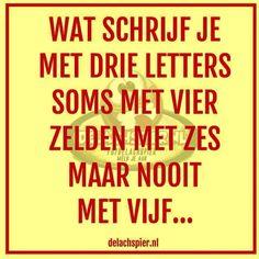Hahaha, ff goed denken!!!!