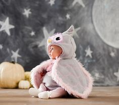 Baby Owl Costume | I can totally see my chloe girl as a baby owl with her big beautiful eyes