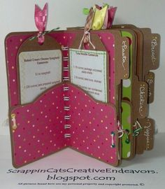 scrapbooking recipe book ideas | Designing my own mini file folders allowed me to get fancy with the ...