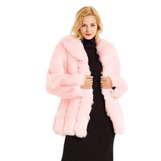 Uaneo Womens Winter Warm Colorful Faux Fur Coat Jacket Cardigan Outerwear