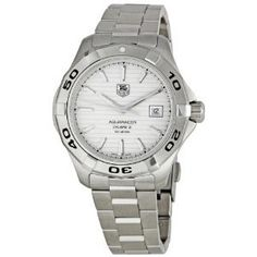 Men's Wrist Watches - TAG Heuer Mens THWAP2011BA0830 Aqua Racer Analog Display Swiss Automatic Silver Watch ** Want to know more, click on the image. (This is an Amazon affiliate link)