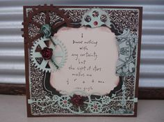 """Card made using our very own die """"Continuous Cogs"""" found at www.wholelottahappy.com.au"""