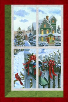This is a print only version. This Christmas attic window quilt and wall hanging are quick and easy to put together. Grid the window and then add a. Christmas Tree Quilt, Christmas Quilt Patterns, Christmas Sewing, Cat Quilt, Book Quilt, Quilting Projects, Quilting Designs, Attic Window Quilts, Fabric Panel Quilts