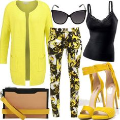 Yellow Lady #fashion #mode #look #outfit #style #stylaholic #sexy #dress