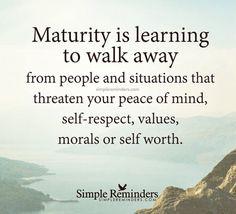 Maturity matters!!