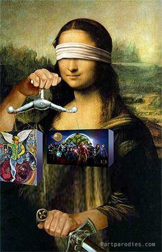 Mona Lisa as Lady Justice Judging SCOTUS Decisions