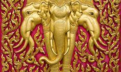 Erawan, the three-headed elephant. www.secretearth.com/attractions/609-bangkok-s-temples-and-shrines