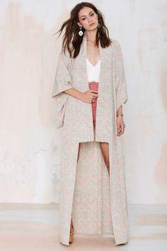 Vintage Miki Maxi Kimono