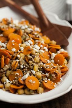 Recipe: Cumin-Roasted Carrots with Wild Rice and Chickpeas — Recipes from The Kitchn   The Kitchn
