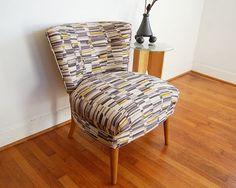 SALE Vintage Mid Century Modern Slipper Chair