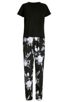 Buy Mono Floral Print Pyjamas from the Next UK online shop