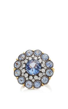 One Of A Kind Blue Sapphire And Diamond Ring by Arman Sarkisyan