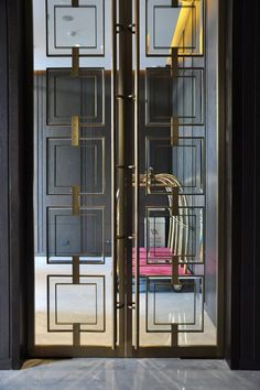 yabu Beijing Waldorf Astoria – professional photography …: – Decor is art Window Grill Design, Door Design, Wall Design, House Design, Interiores Art Deco, House Inside, Suites, Steel Doors, Entrance Doors