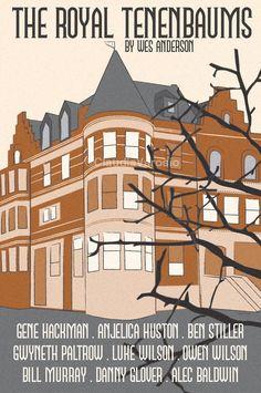 The Royal Tenenbaums (2001) - Minimal Movie Poster by Claudia Varosio #minimalmovieposter #alternativemovieposter #claudiavarosio #wesandersonmovies