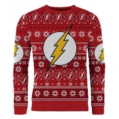 The Flash Run Run Rudolph Christmas Knitted Sweater/Jumper Preorder (3.225 RUB) ❤ liked on Polyvore featuring tops and sweaters