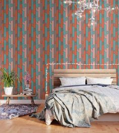 El cacto by Productions Print Wallpaper, Pattern Wallpaper, Design Art, Interior Design, Three Floor, Peel And Stick Wallpaper, Fabric Panels, Repeating Patterns, Wall Ideas