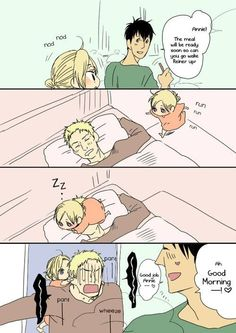 Attack on Titan ~~ If the guys were a married couple and Annie was their daughter. :: Bertholdt Reiner Annie