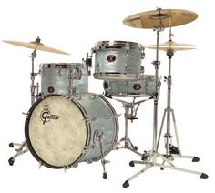 Vintage Oyster White Gretsch Drums http://www.vintageandrare.com/category/Drums-Percussion-216