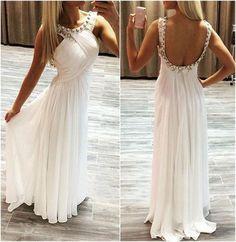 Pd603232 Charming Prom Dress,Backless Prom Dress,Beading Prom Dress,Chiffon Prom Dress,A-Line Evening Dress