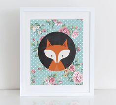 Hey, I found this really awesome Etsy listing at https://www.etsy.com/listing/227584038/fox-printable-woodland-nursery-art-print