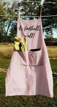 Check out this item in my Etsy shop https://www.etsy.com/listing/475792954/its-football-yall-apron-ooak-chef-gift